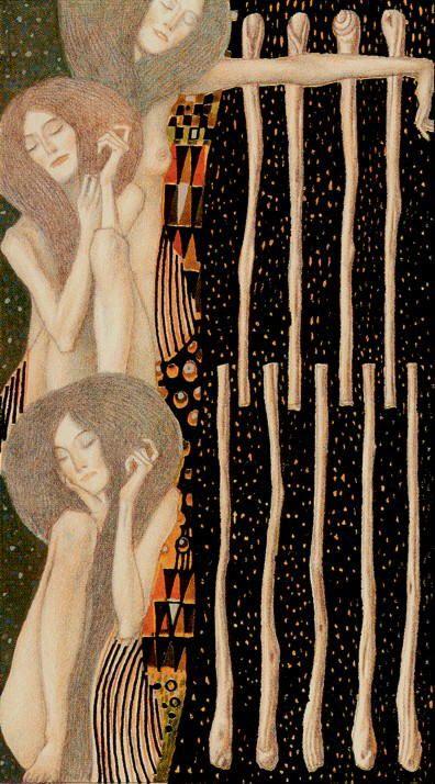 9 of wands - Tarot de Klimt par A. Atanassov