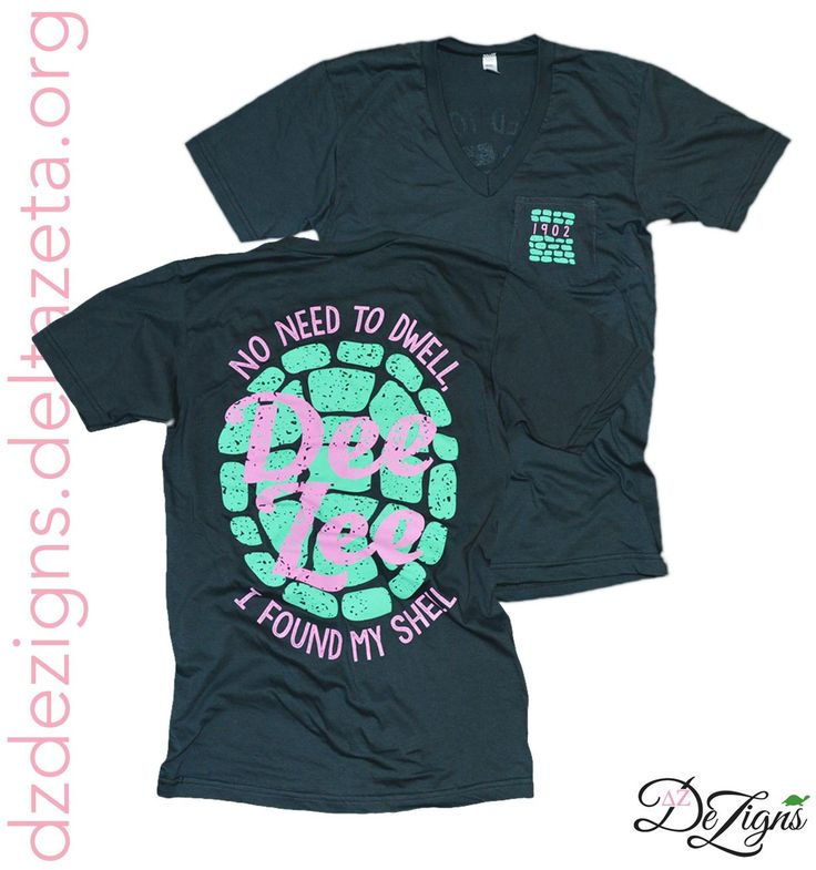 Turtle Shell V-neck!! Have you started your chapters next Delta Zeta shirt DeZigns? Do it with DZ DeZigns!! How cute is this turtle shell v-neck?!