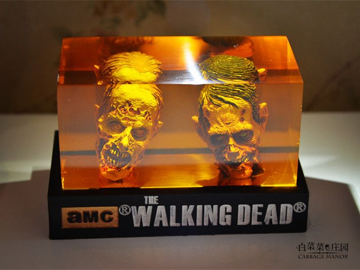 The Walking dead action Figure  zombie Figures head Resin crystal car ornament home desk Decoration furnishing articles
