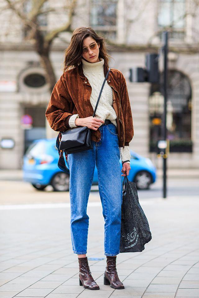 Look tendance hiver 2015 : jean vintage et bottines | Glamour