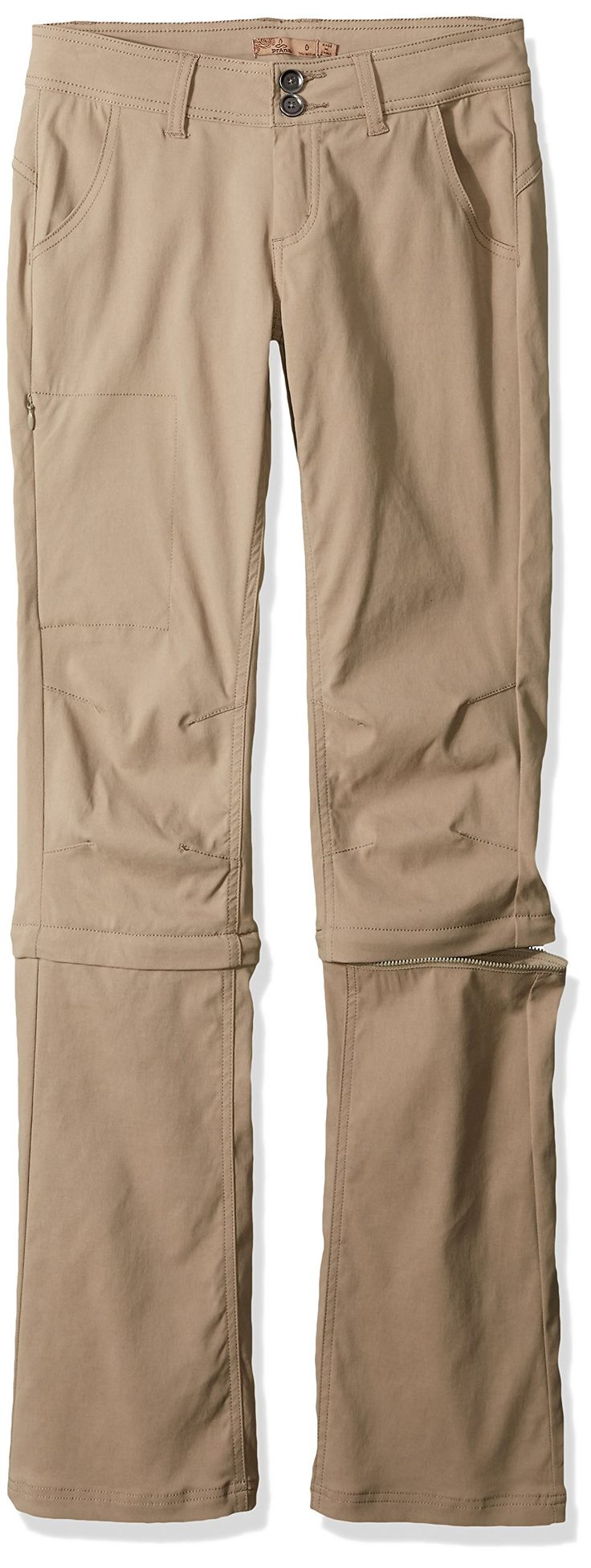 prAna Women's Halle Convertible - Tall Pants, Dark Khaki, Size 4
