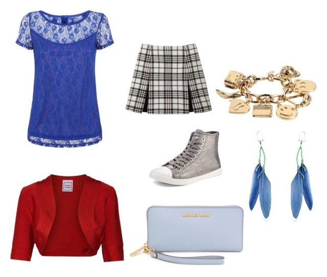 """""""tried same as hannah montana's style (?)"""" by figy ❤ liked on Polyvore featuring Amalie & Amber, Hervé Léger, Carven, DKNY, Michael Kors, Moschino and Etro"""