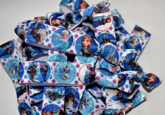 30 Frozen Elastic Hair Ties. Your guests will love to find these in their goody bag! Perfect for parties or to share with friends.    * If