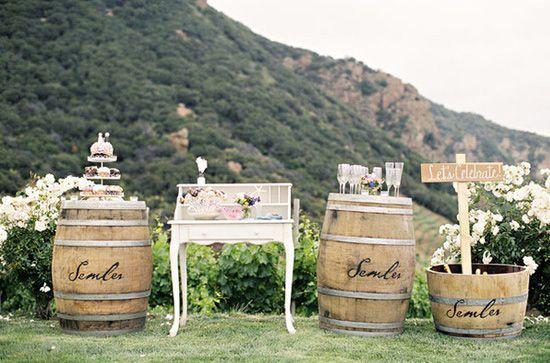 decoración de bodas rusticas mueble vintage