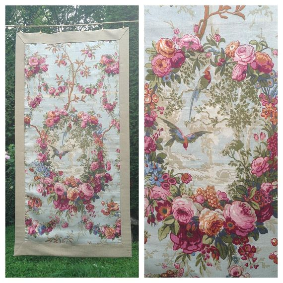 Stunning beautiful unusual 1920s decorative birds and florals $597 etsy
