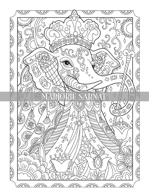 177 Best Elephant Coloring Pages for Adults images | Elephant ... | 800x618