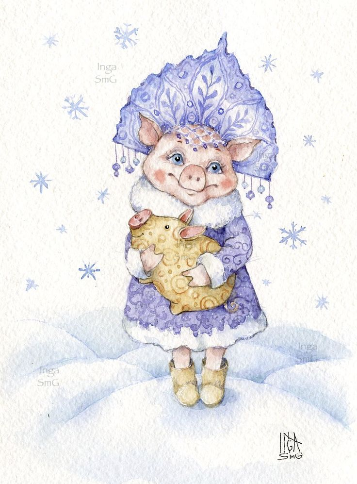 Inga SmG pig Инга Измайлова свинка свинья кабан год свиньи снегурочка