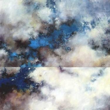 "Saatchi Art Artist Marjan Fahimi; Painting, ""Sky Mirror"" #art"