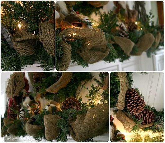 Rustic Christmas Tree Decorating Ideas | Rustic Christmas Mantel