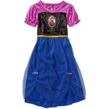Disney Frozen Short Sleeve Fantasy Gown, Blue