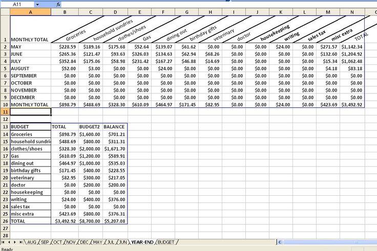 bill spreadsheet excel