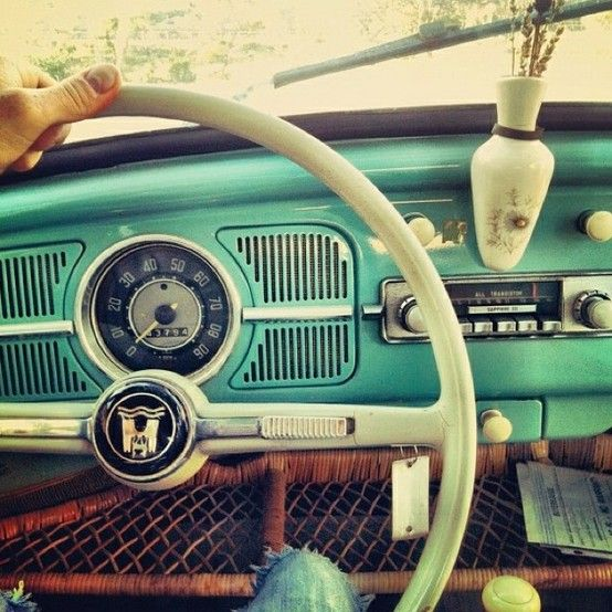 retro - super retro. I will have an old pick up truck in this color someday ;)!