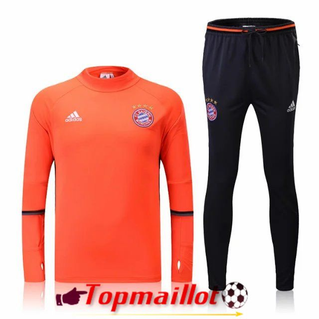 Nouveau Survetement de foot Bayern Munich Orange 2016 2017