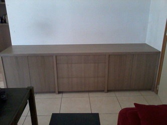 TV meubel in eik