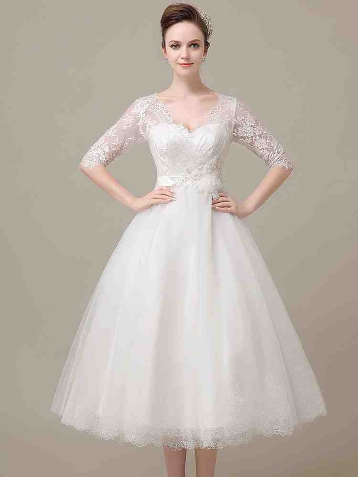 56 besten tea length wedding dresses Bilder auf Pinterest ...