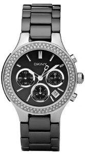 DKNY Ceramic Glitz Chronograph Black Dial Women's watch #NY4983