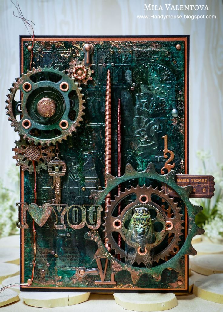 Scrapbooking steampunk card