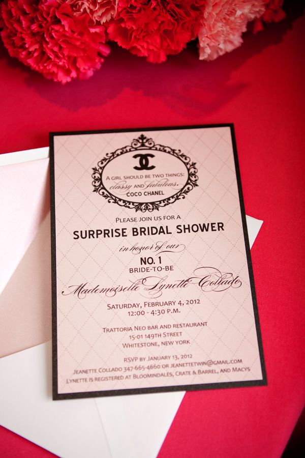 CoCo Chanel French Inspired Bridal Shower 14