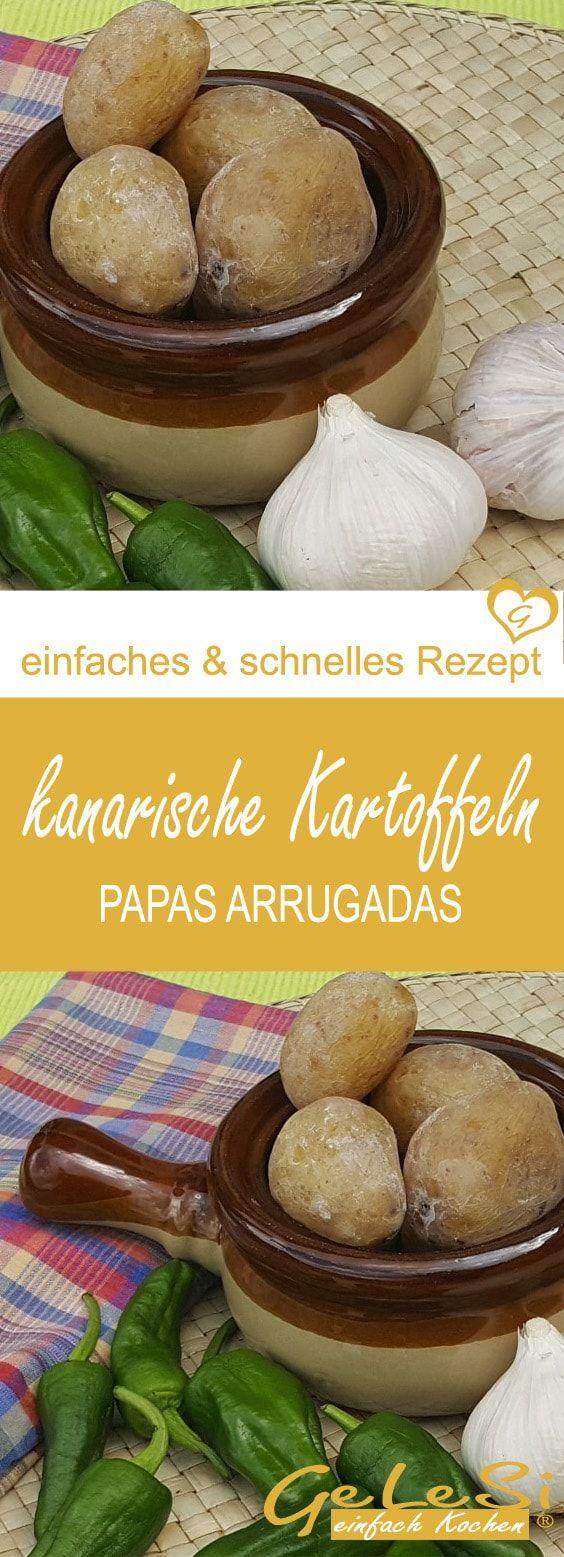 einfaches Rezept: Kanarische Runzelkartoffeln – Papas arrugadas mit 3 Soßen