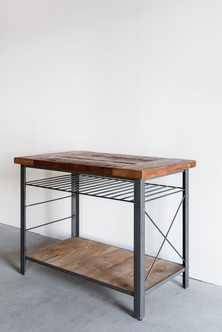 Nv united states rough in piping for outdoor island sink and bbq - Materials Reclaimed Pine Industrial Steel Process This Kitchen Island Is Custom Made In