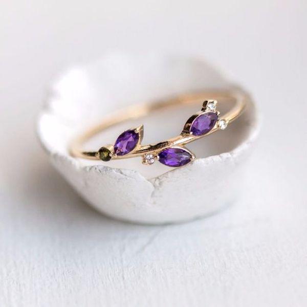 anello con ametista #purplewedding #ultraviolet