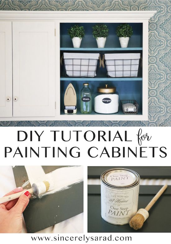 DIY Chalk Paint Tutorial for Painting Cabinets - easy and inexpensive way to makeover a space!