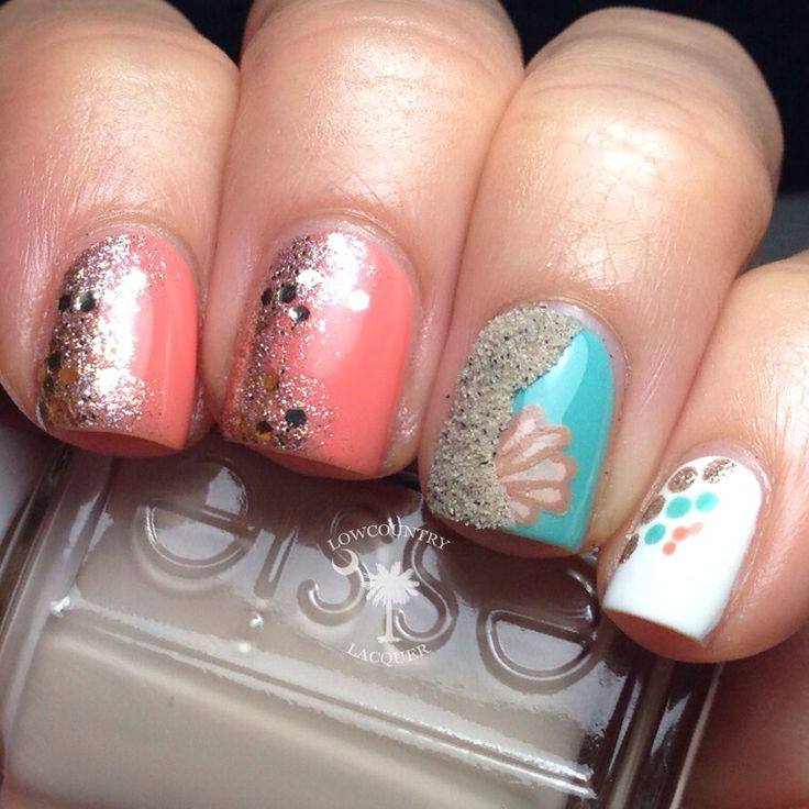 Best 25 beach themed nails ideas on pinterest beach nails beach themed nails with sand by lowcountrylacquer prinsesfo Image collections