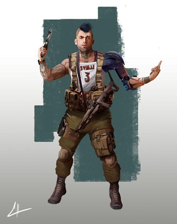 Elysium gang member. by Guillermo Talbott | Sci-Fi | 2D ...