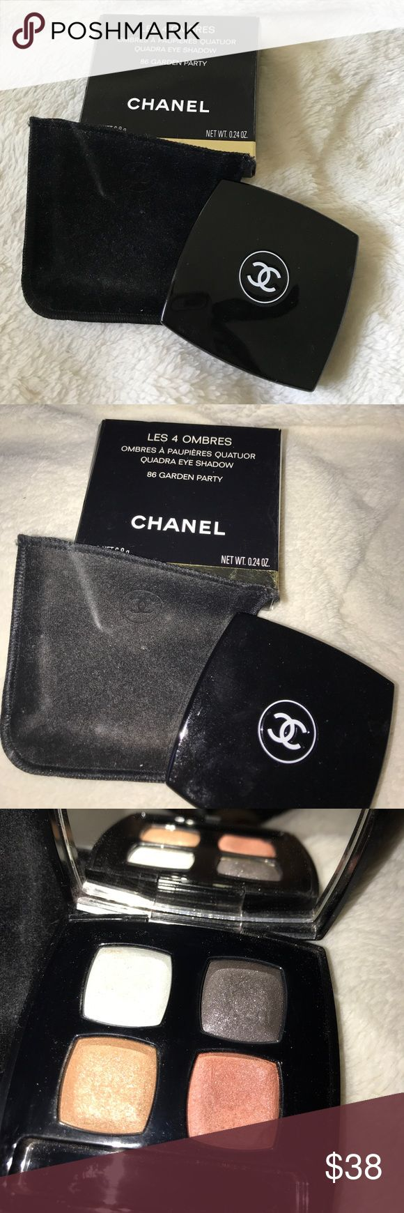 Chanel eyeshadow Lightly used Chanel eyeshadow. ❌If you would like to purchase for a CHEAPER PRICE, please email me kassidyrios@yahoo.com I prefer to do purchases via paypal.❌ CHANEL Makeup Eyeshadow
