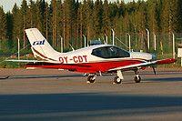 Copenhagen Air Taxi Socata TB-20 Trinidad OY-CDT aircraft, parked at Finland Tampere Pirkkala Airport. 29/05/2009.