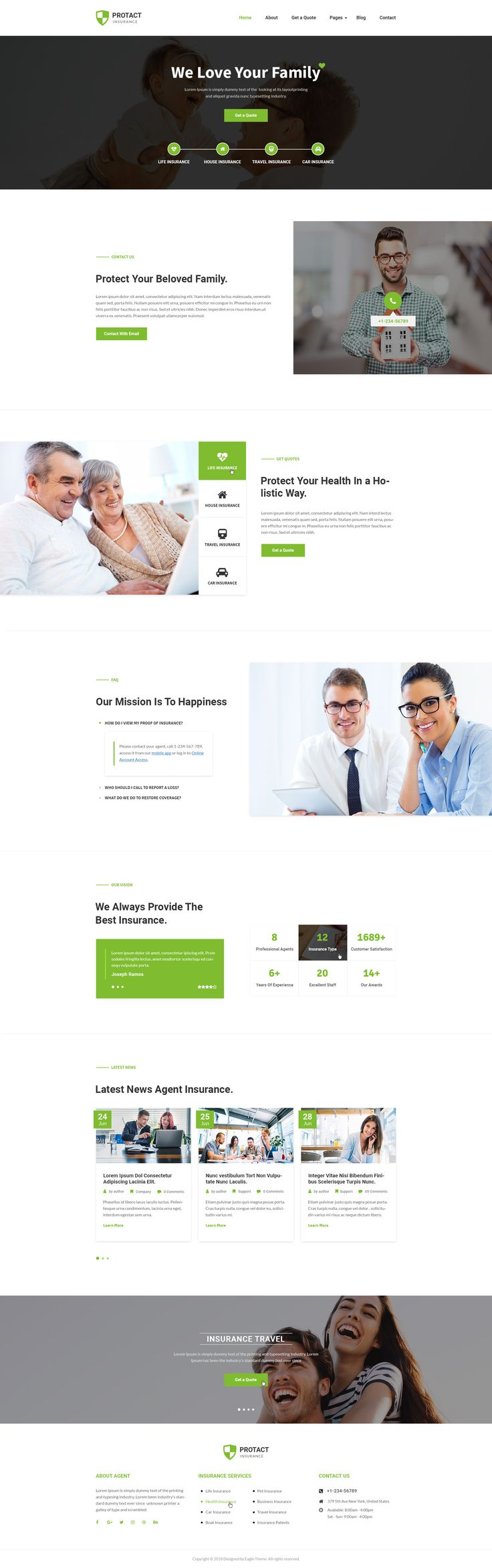 Protact is a clean PSD Template suitable for Insurance Agency, Insurance Agent, Business, Corporate, Consulting services. You can customize it very easy to fit your needs.   #webdesign #uidesign #psd
