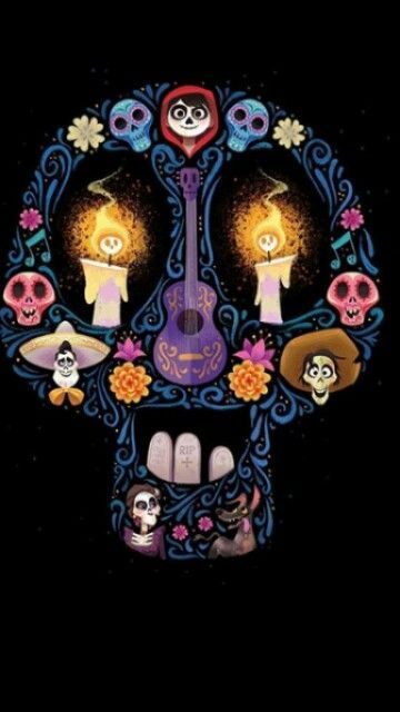(notitle) - day of the dead sugar skulls - Yorgo Angelopoulos Disney Pixar, Arte Disney, Disney Animation, Disney And Dreamworks, Disney Magic, Disney Art, Sugar Skull Art, Sugar Skulls, Pixar Movies