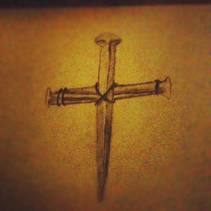 Nail Cross Tattoo: Three Nails Cross. Something Like This In My 1/2 Sleeve