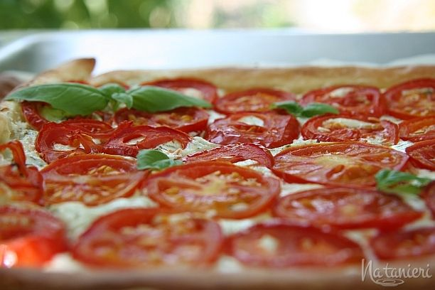 slaný koláč s paradajkami