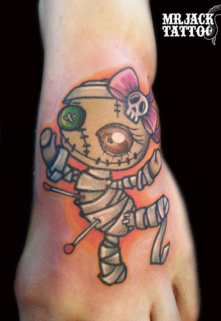 #mummia #voodoo #mummy #tatuaggi #tattoo #mrjack #mrjacktattoo #color #arte #artist #colortattoo #bodyart #mrjacktattoofamily #cartoon #tattoocartoon