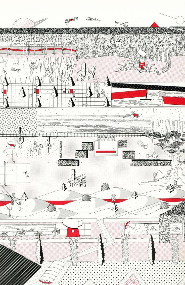 Oma  Rem Koolhaas  Parc De La Villette  Paris  France  1982