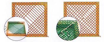 Resultado de imagen para telar de clavos cuadrado