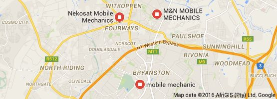 Map of mobile mechanics