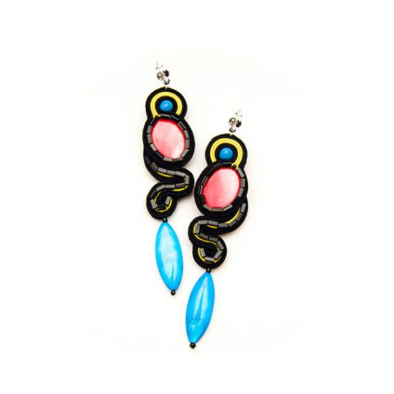 Mexican earrings Candy jewellery Dangle earrings by MANJApl