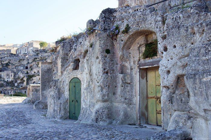 """Abandoned """"sassi"""" (cave homes) in Matera, Italy"""