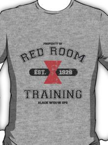 Red Room Training- White & Black(vari. 3) T-Shirt. //click on the photo and it will take you to a site with a TON of Black Widow merchandise