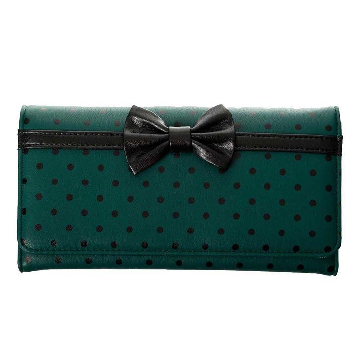 Dancing Days Carla portemonnee met polkadot stippen en strik detail te
