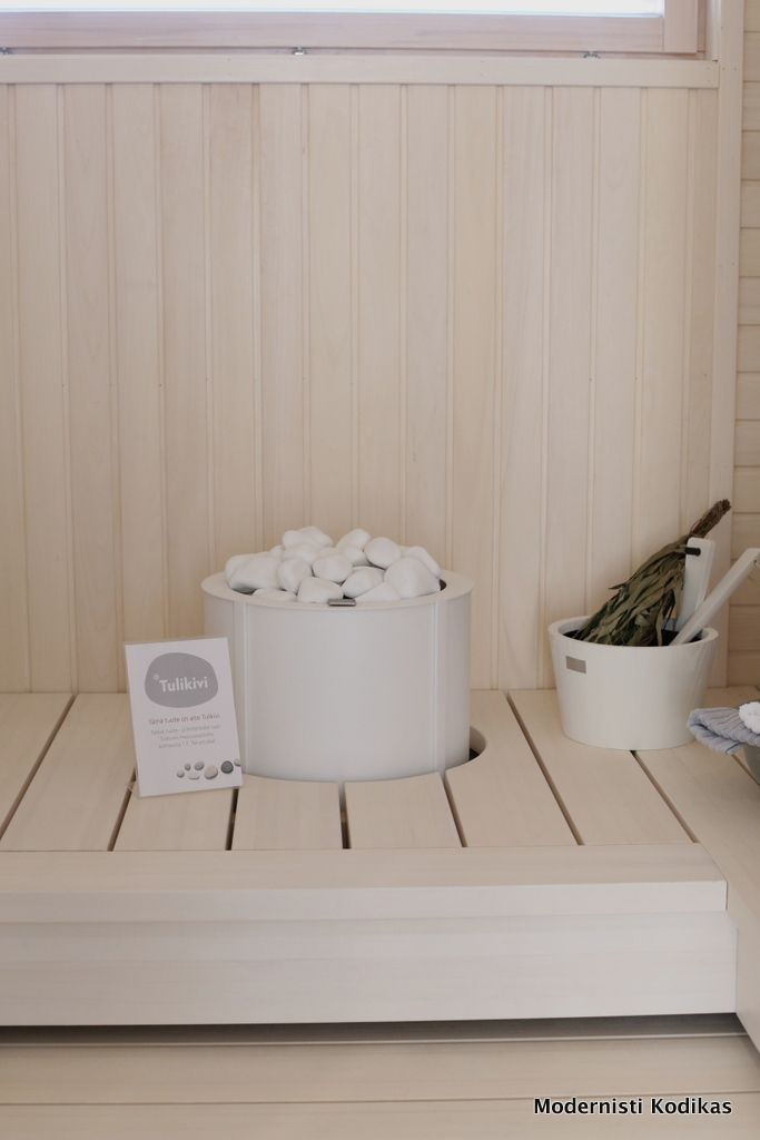 Loma-asuntomessujen saunoja ja terasseja - Modernisti kodikas