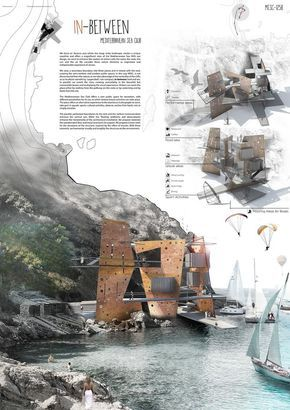 In between architectural drawings,project,presentation