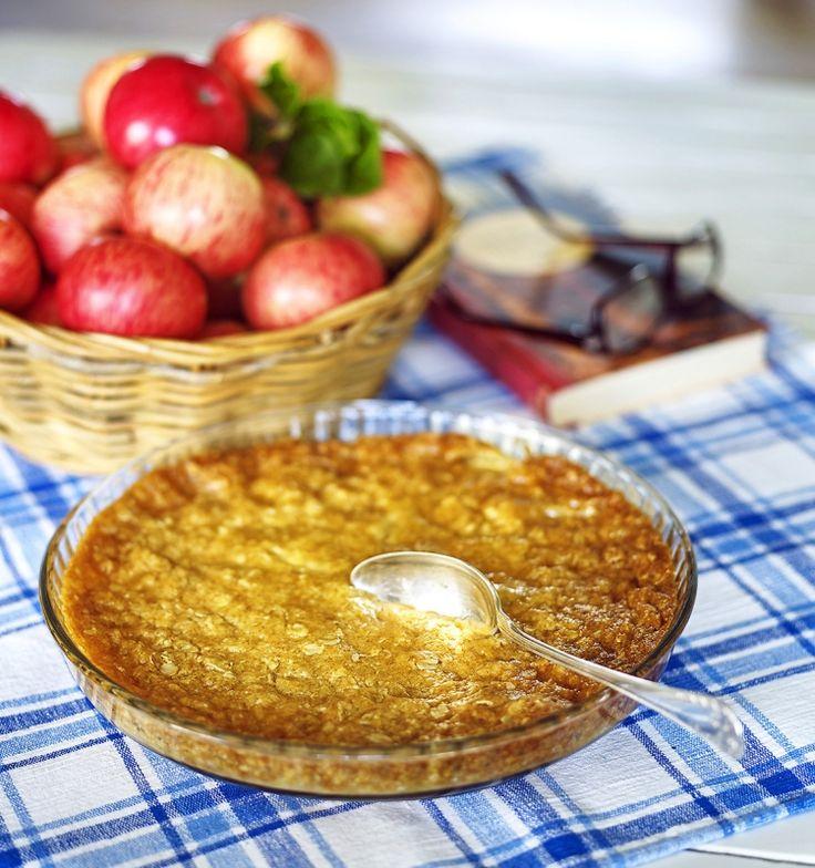 Knäckig paj med äpplen