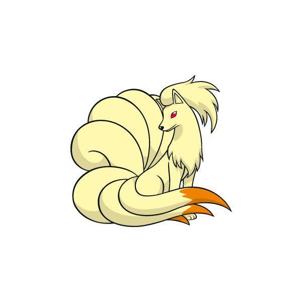 pokemon ninetales ❤ liked on Polyvore featuring pokemon