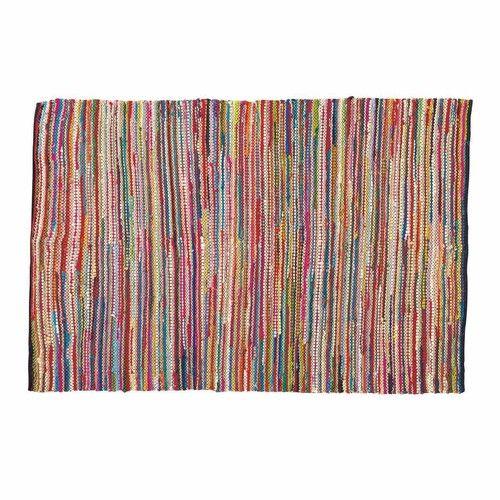 ROULOTTE cotton woven rug, multicoloured 160 x 230cm