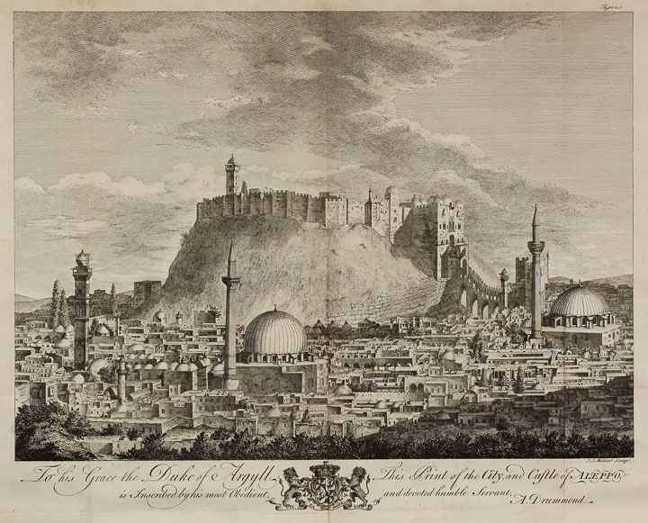 A beautiful view of Aleppo, Syria in 1754.