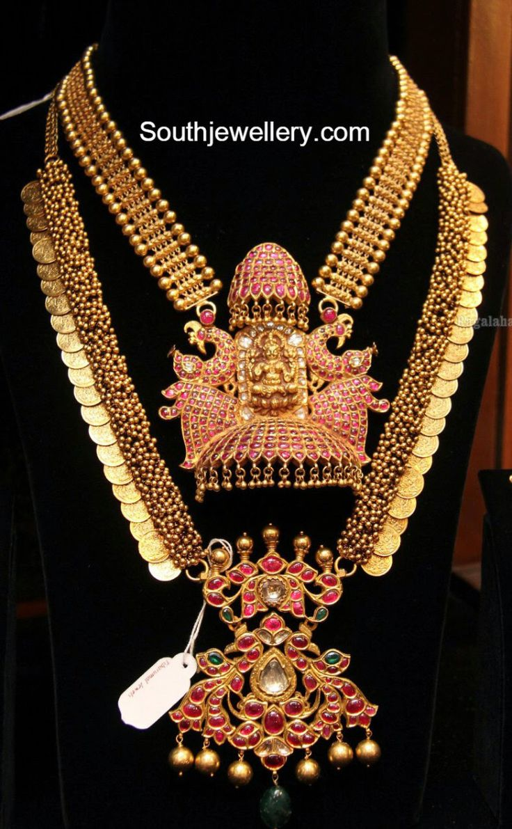 Antique Gold Necklace and Kasu Haram