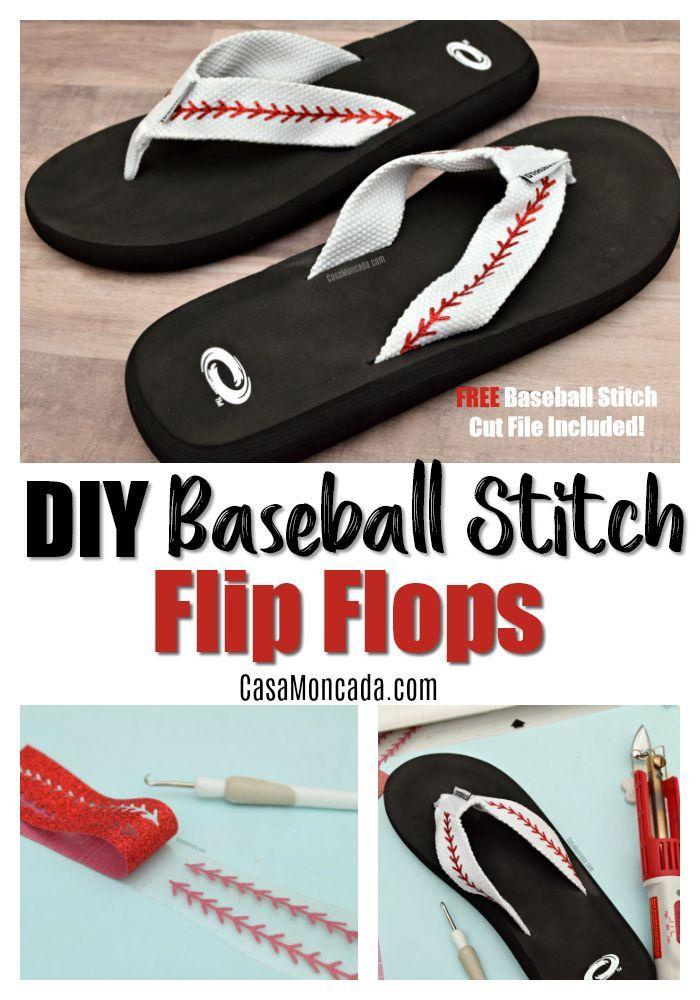 Baseball Flip Flops Baseball Gift Baseball Mom Flip Flops Baseball Seams Flip Flops Baseball Stitches Flip Flops